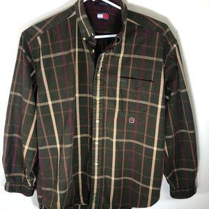 Men's Tommy Hilfiger Plaid Flannel Button Down XL